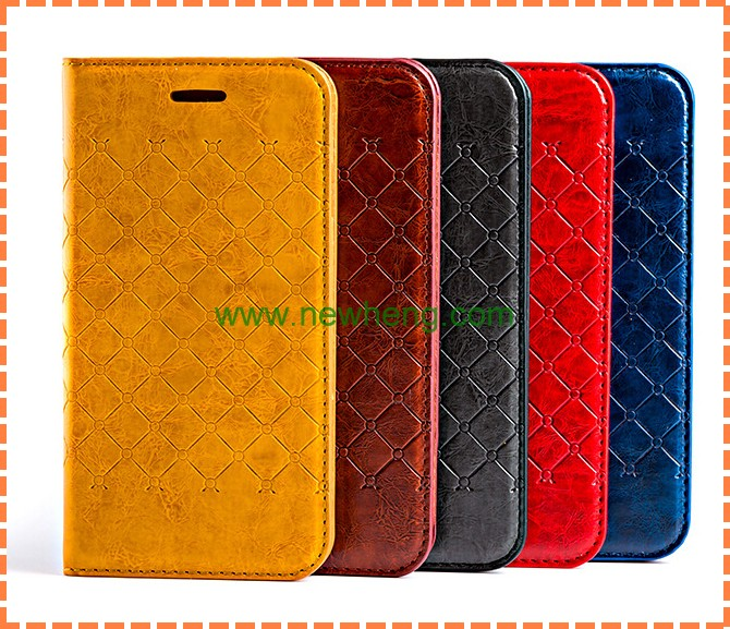 Luxury PU Leather Smart Stand Cover Case Wallet Case For Apple Iphone6 & Iphone6 Plus