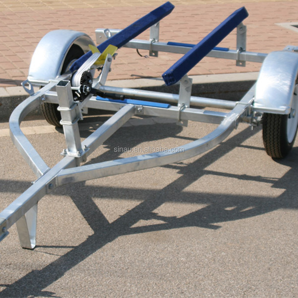 5.5 m boat trailer fiberglass fishing boat trailer for 5.5m boat