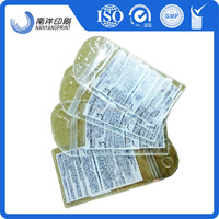 PVC shaped pouch with zipper top print waterproof transparent metal hang hole bag