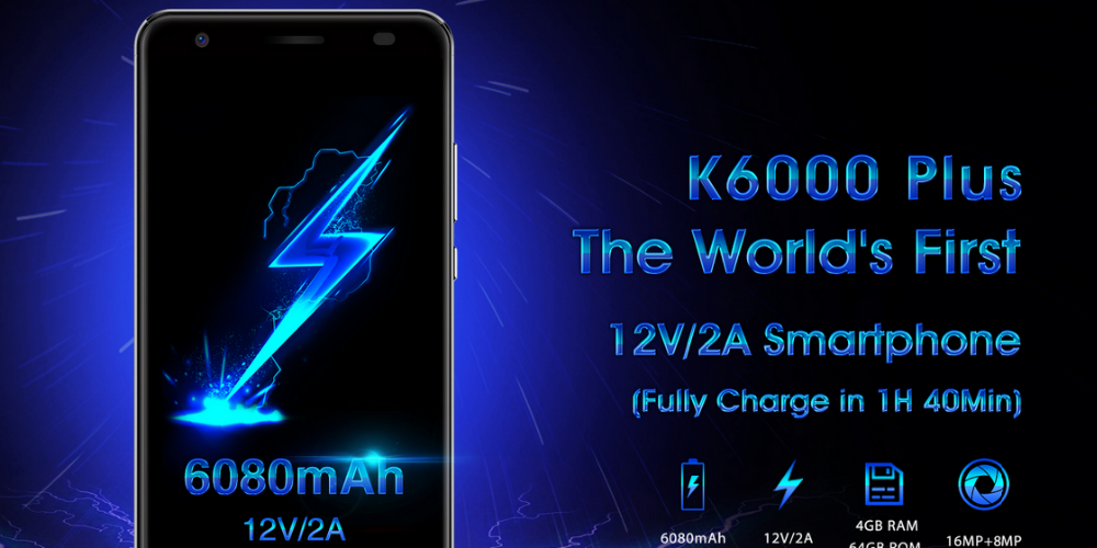 "new arrival 5.5"" Oukitel k6000 plus MTK6750T octa core Android 7.0os 4+64gb mobile phone"