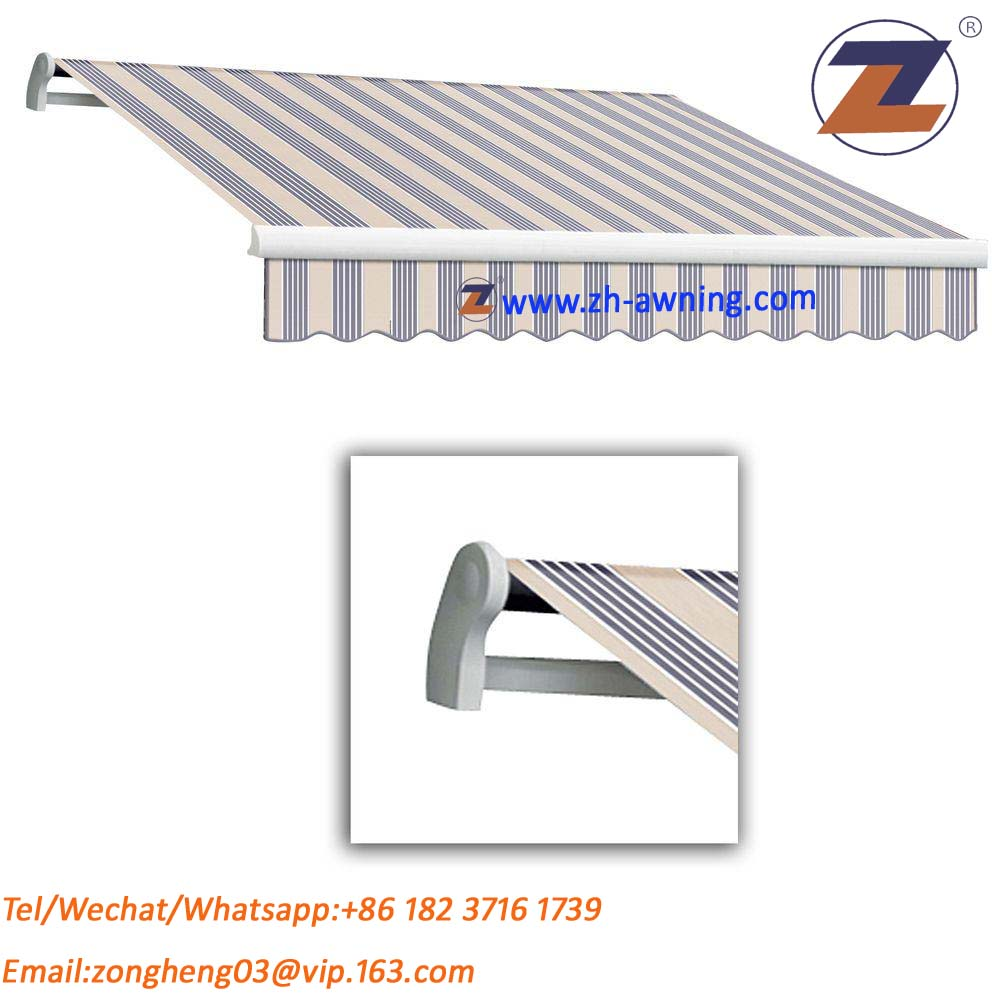 UV protection polyester waterproof retractable patio awning for outdoor using