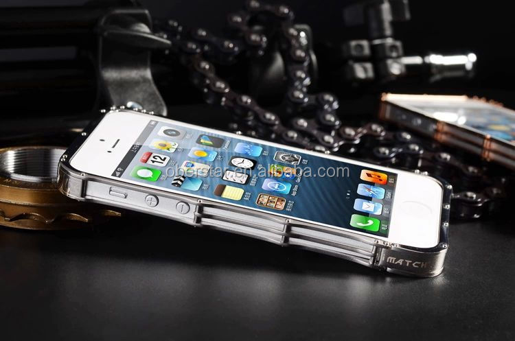 High Quality Selft-design Screwless watch chain Style Metal aluminium bumper case for iPhone 5/5s