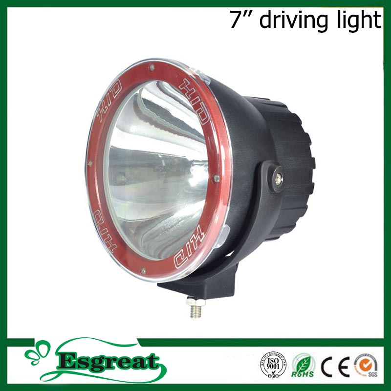 Hot sale popular 7'' 35w 55w 12v 24v rally super off road driving lights 4x4