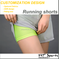 inner sexy tight shorts Custom design dry fit Running workout athletic womens sports shorts