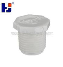 PVC male threaded plug for water supply