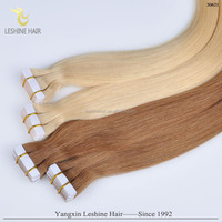 2015 Best Selling in Dubai Cheap Wholesale Double Drawn Good Feedback Best Quality indian remy tape hair extensions