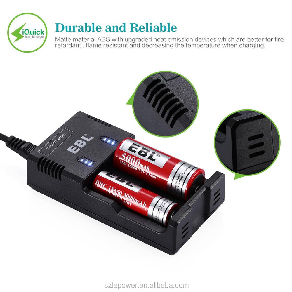EBL AA AAA 18650 C D Universal Rechargeable Battery Charger Quick Charge Battery Charger