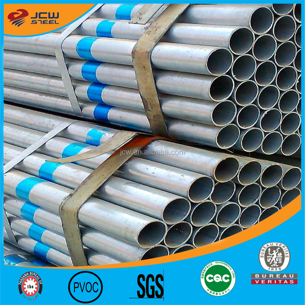 Construction material ASTM A53 schedule 40 galvanized steel pipe,GI steel tubes Zn coating 60-400g/m2 with high quality