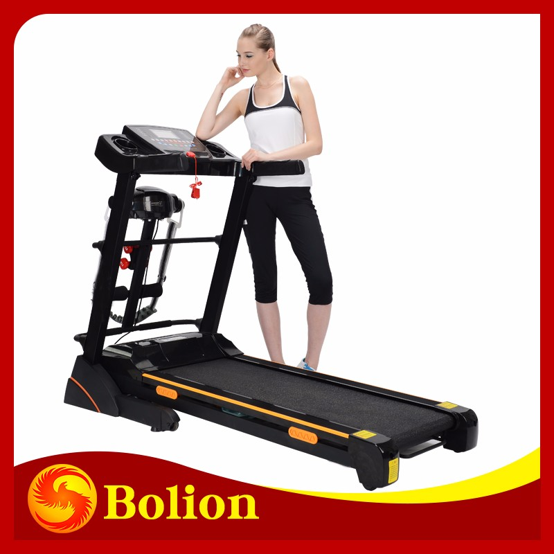 electric motorized easy foldable leg extension cross trainers treadmill used commercial gym equipment for sale/
