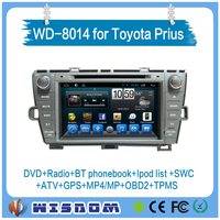 2016 new model toyota prius radio audio video car dvd player with full sets of cables no need break car in dash 8'' hd bluetooth
