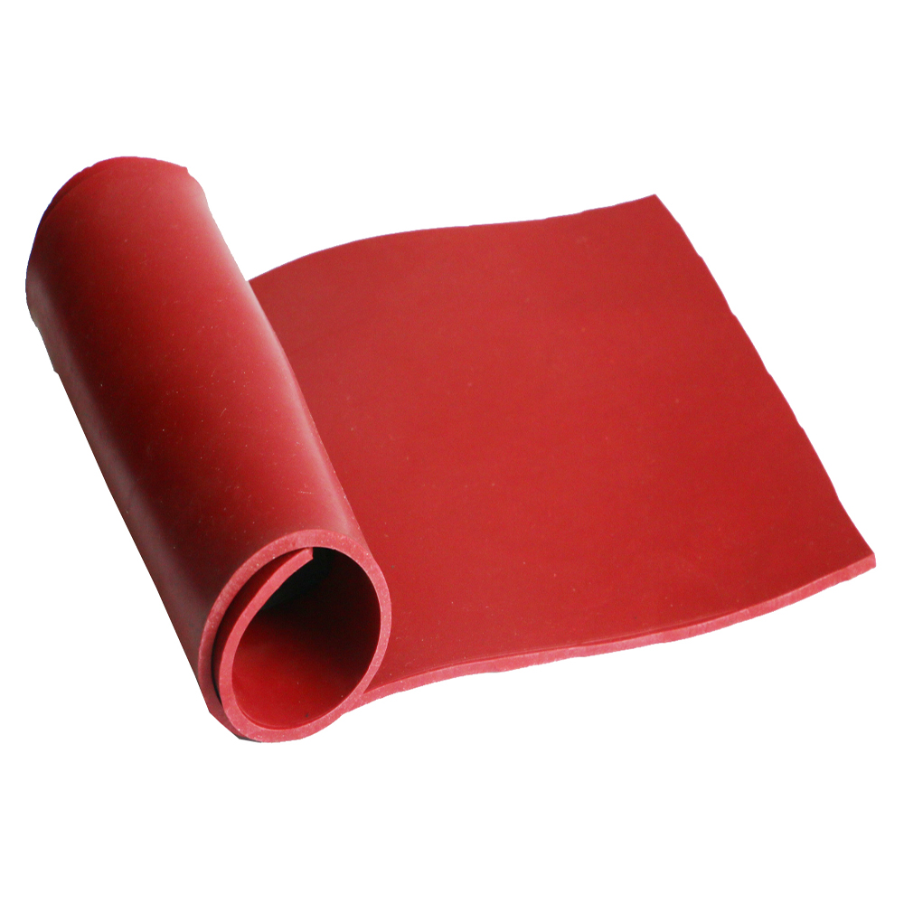 1.2m*6.4mm Tan Red Color Pure Gum Rubber Flooring Mat Natural Latex Rubber Products With Rohs and Reach certification