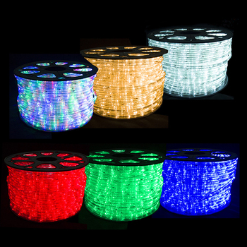 China factory wholesale 50 meter /roll 220v remote control flex color changing led rope light 110V