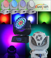 New arrival !! Powerful high quality colorful ring shape lighting moving head stage wash dmx led dj light wholesales price