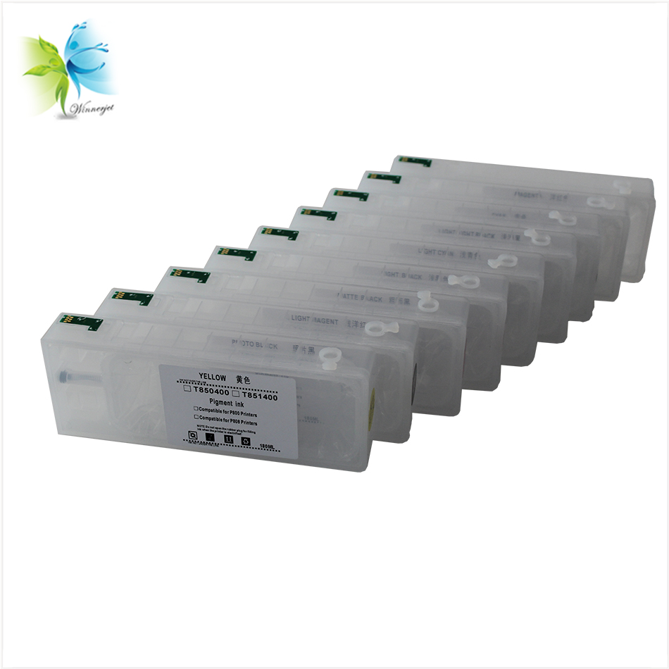 wholesale price T8501-T8509 refill ink printer cartridge P800 for Epson with auto reset chip
