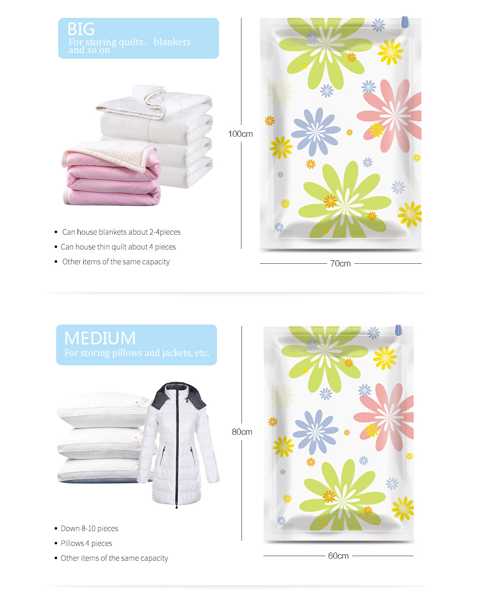 Wholesale PET PE Clothing Quilt Felt Travel Space Saver Vacuum Compressed Storage Bags For Clothes