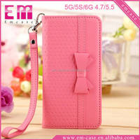 New Candy Color Flip PU Leather Case For iPhone 6 6s,Card Slot Wallet Case For iPhone 6/6s Plus