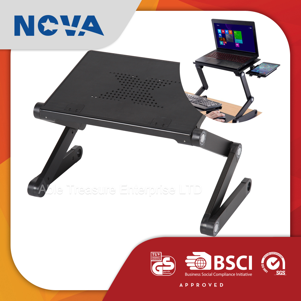 Newest simple cooling fan ODM stand up laptop desk