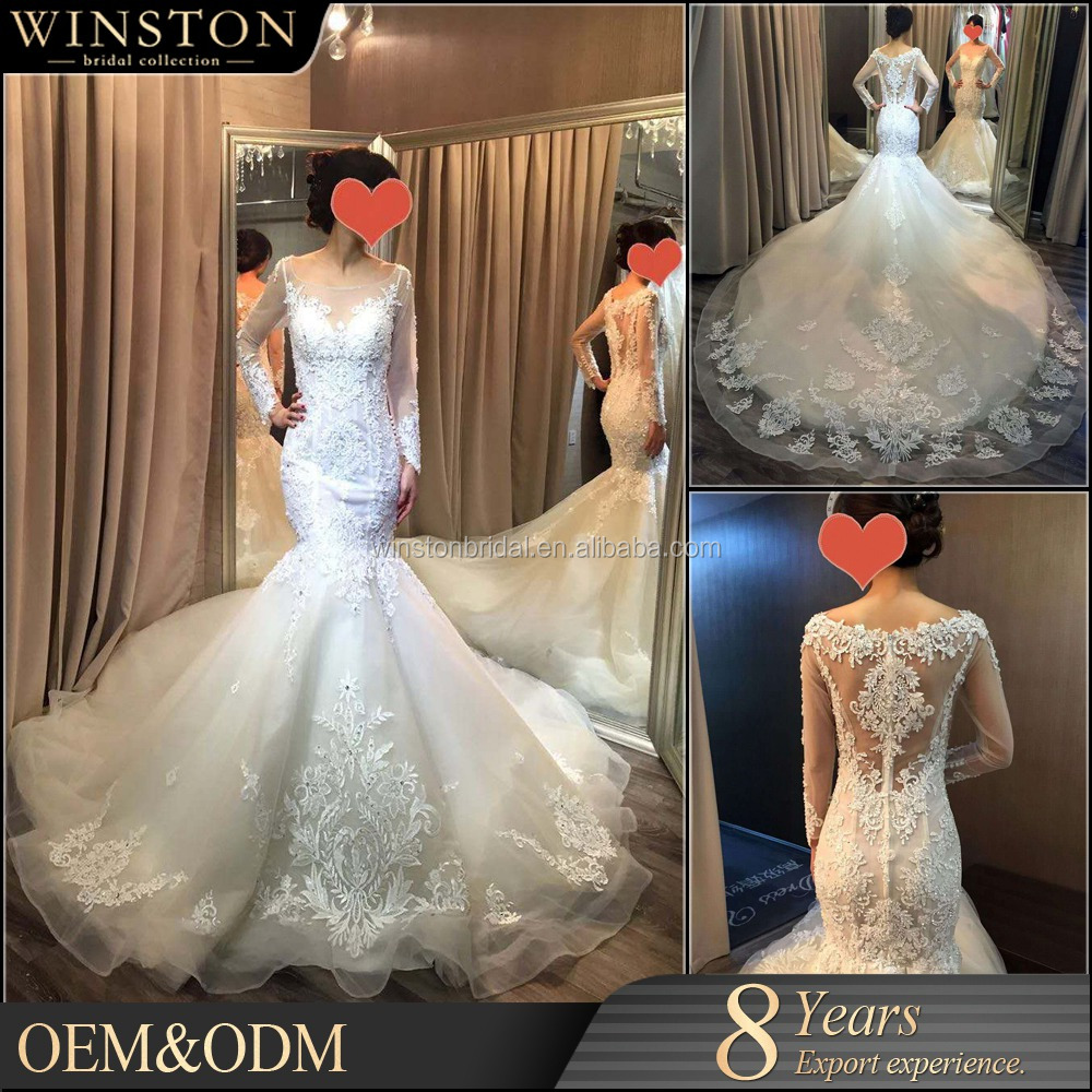 New arrival product wholesale Beautiful Fashion white and navy wedding dress