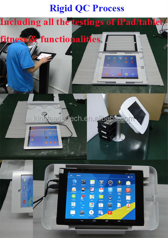 Low cost white freestanding ipad kiosk floor stand for ipad tablet