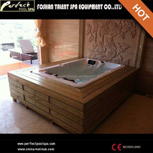 Hot Sale!3 person luxury hot tub/free massage video tube