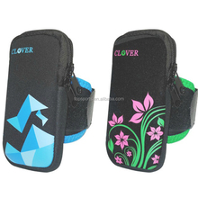 Neoprene unisex armband phone case phone sleeve with belt paste adjustable