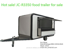 JC-R3350 Professional Newly Customized Outdoor Street Commercial Mobile Fast Food Trailer