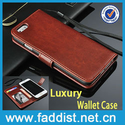 wholesale price leather case for iphone 6 wallet case made in China