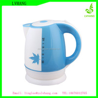 1.8L electric cordless plastic tea kettle with water level window