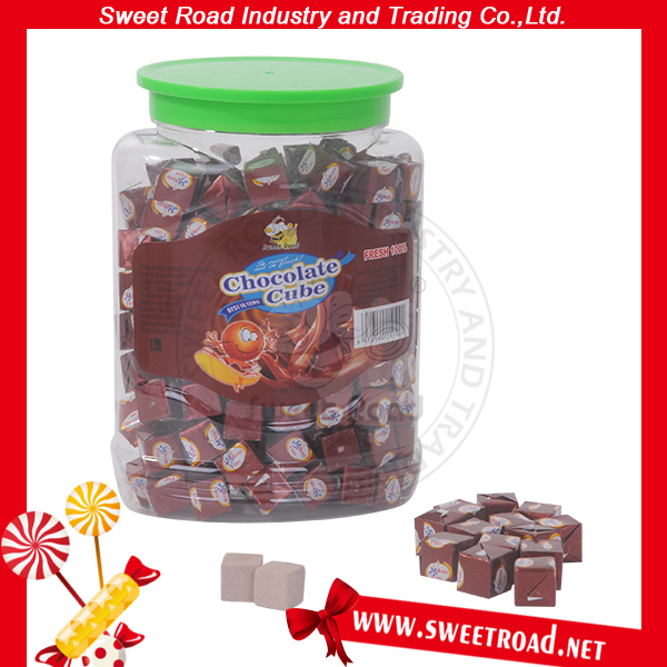 Chocolate Cube Milk Tablet Sweet Square Creamy Candy