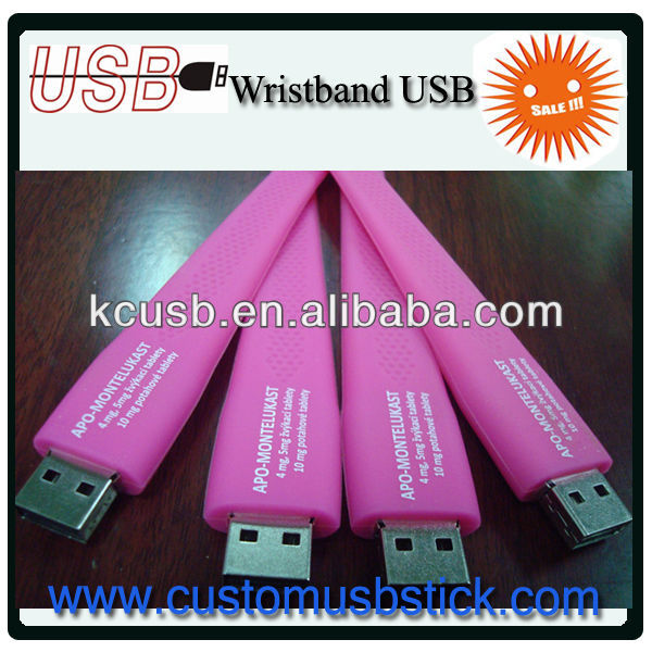 unique wrist band usb promotional gift for lady