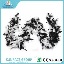 Brand new boa plume sexy chandelle feather boa halloween decorations fluffy black ostrich feather boa with low price