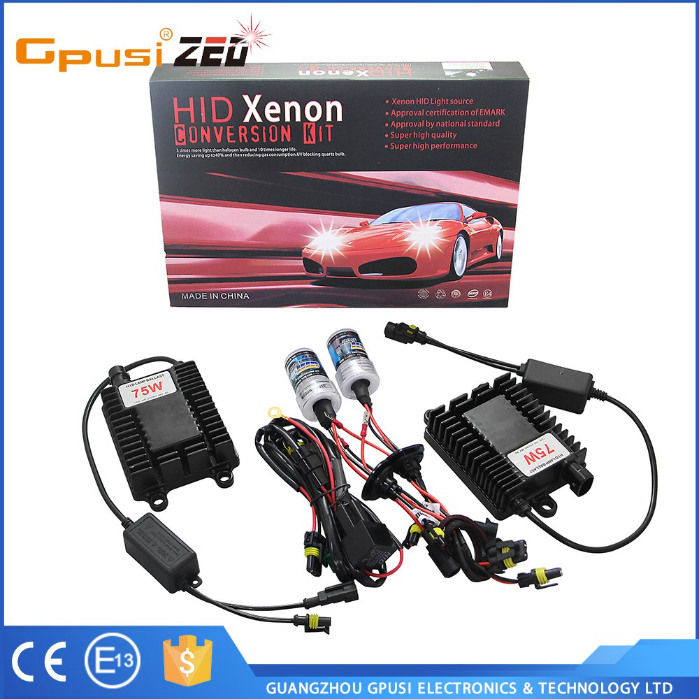 Hid Car H8 75W 100W High Power 55w hid xenon lamp h4 h/l 6000k HID Electronic Digital Conversion Ballast Kit