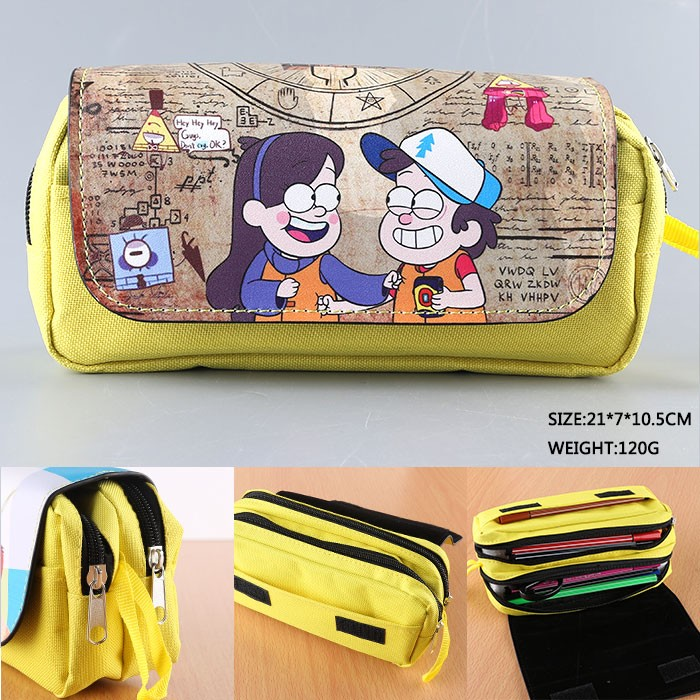 Cartoon Gravity Falls Pencil Case Bag Student Stationery Pouch/Cosmetic/Travel Makeup/Storage Bag