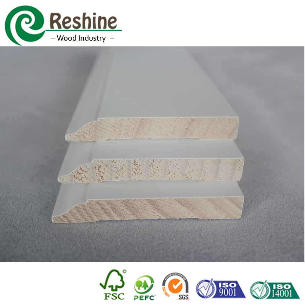 WM623 Decorative Primed Pine Wall Baseboard