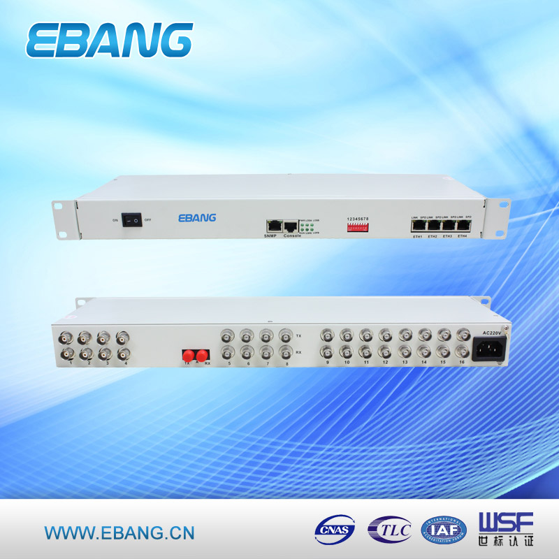 16E1+4Ethernet PDH Fiber Optical Multiplexer