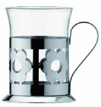 Stainless steel french Press coffee cup with beautiful flower shape