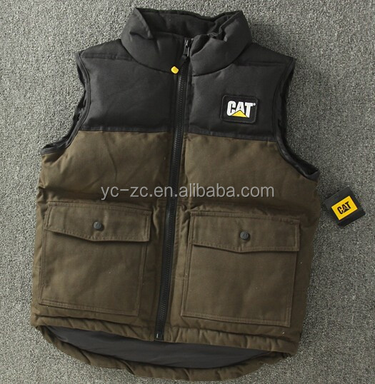 Hot Sale 2015 Men's Canvas Casual Vest cotton sleeveless jacket