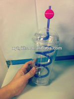 plastic protein shaker logo/cup/tumbler with straws with cover with 2% discount