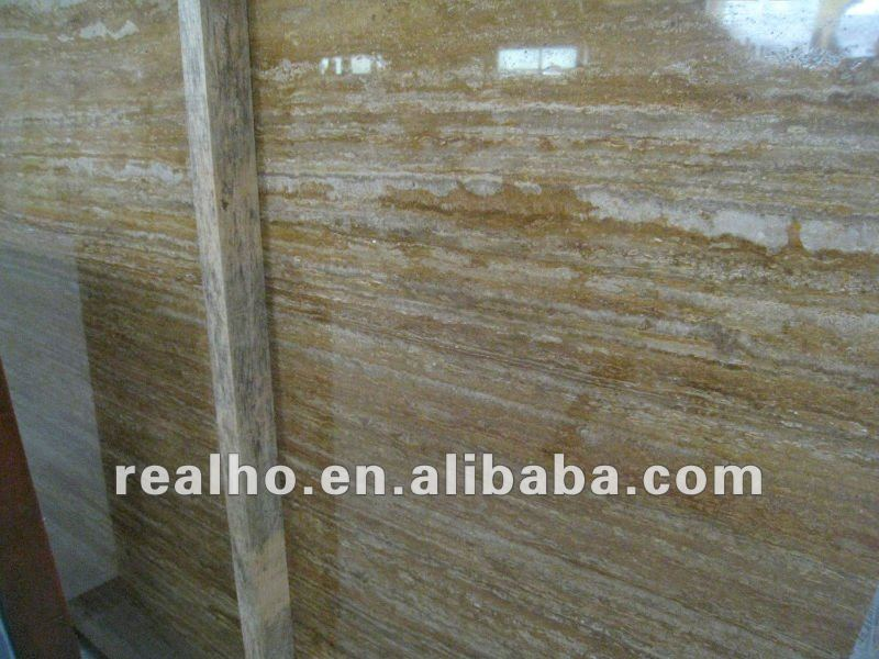 Filled Hole Gold Travertine