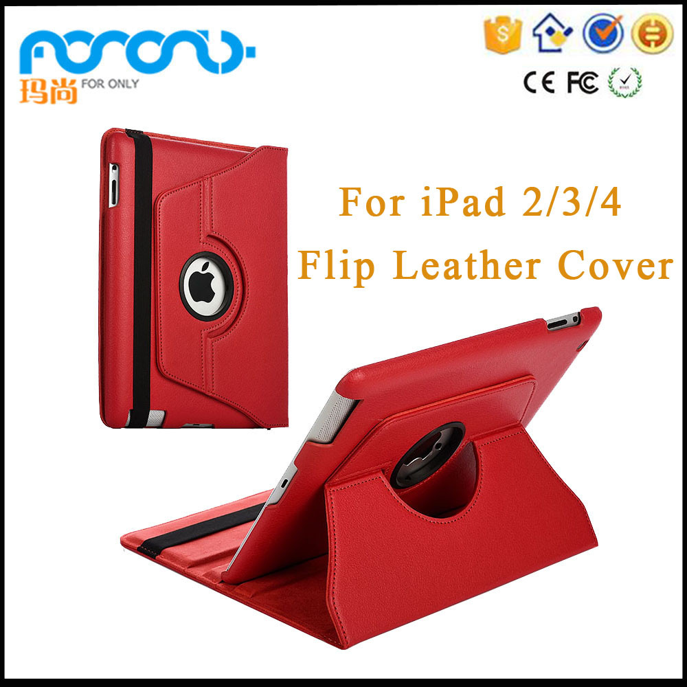 Tablet accessory flip 360 degree rotate for ipad 2/3/4 9.7 case, for ipad cover