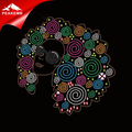 Fashion Colorful afro girl Rhinestone heat press transfer for t-shirt