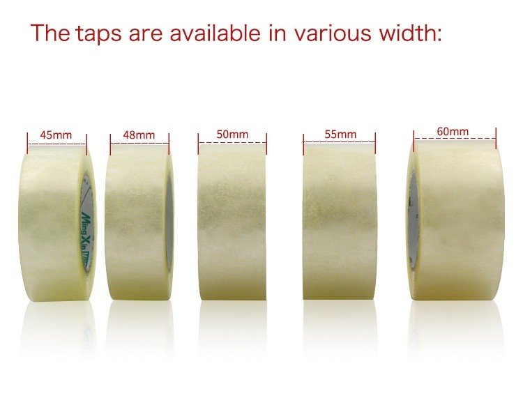 Free sample  silent no noise BOPP transparent self adhesive packing tape
