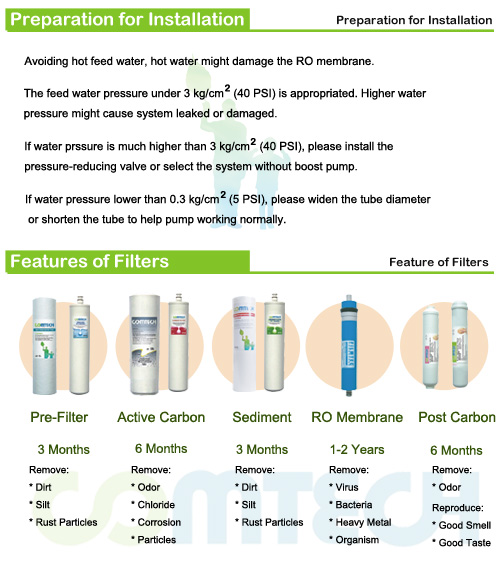 Easy to Install 2-5 Stage Residential Water Filtration Purifier (Pre-Filter, Sediment, Carbon, Resin)