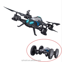 Lishitoys L6055 2in1 Land&Sky RC Quadcopter Flying Car 2.4G 4CH 6Axis Helicopter Drone Remote Control Toys VS SY X25