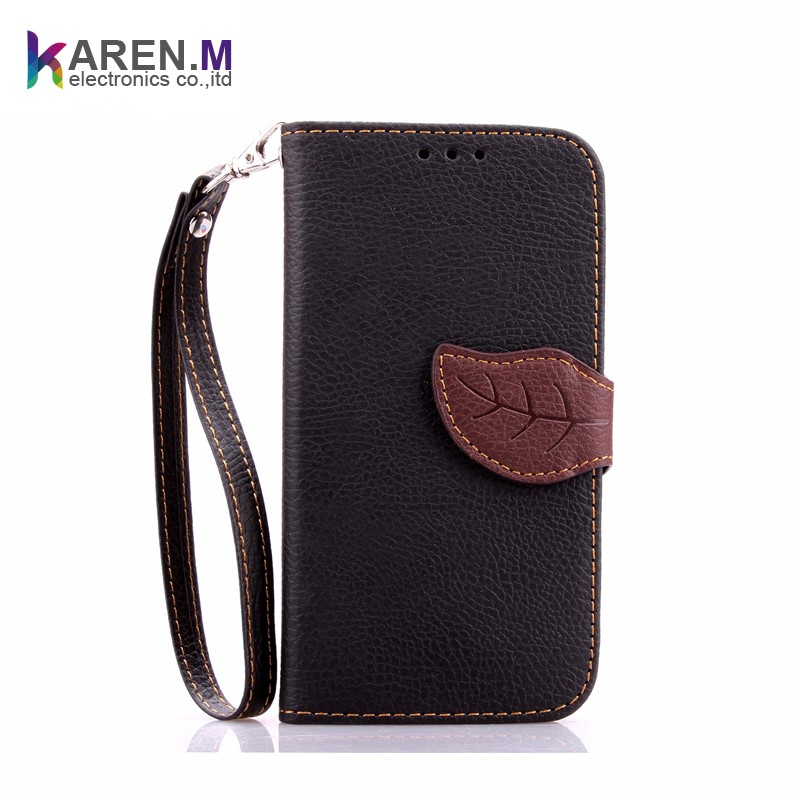 Clip On Design PU Leather Wallet Case Cover for huawei ascend y550