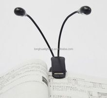 Double head LED clip light / Stand Book Light /adjustable led mini book light with clip