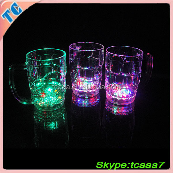 led promotional plastic glow cup&promotional plastic cups&light up plastic led flashing party cups