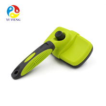 Pet Grooming Brush - Self Cleaning Slicker Brushes dog deshedding blade for Cat Dog Long & Thick Hair dog
