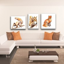 lovely animal canvas print painting designs ,wall art for living room