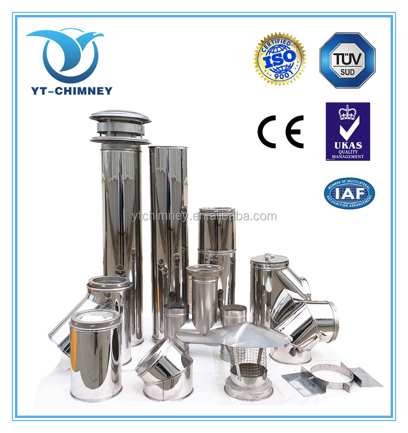 Gas Fireplace Parts Fittings Socket Chimney Flue Pipe